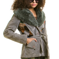 Vintage 70's What a Fox! Faux Coat - XS