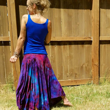 Purple iCe DYed sKirt tie dye tattered skirt OrganiC hiPpie skirt BOho clothes gYPsy sKirt YogA baNd fLow daNCe fEsTival sKirt BOhemian maxi