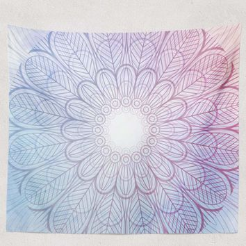 Reiki Charged Purple Mandala Tapestry Wall Hanging Meditation Yoga Grunge Hippie