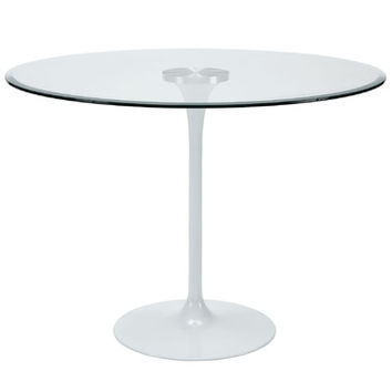 Modway Circuit Dining Table in Clear