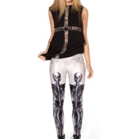 Mechanical Mermaid White Leggings