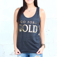 Go For Gold Foil Tank {Tri-Black}