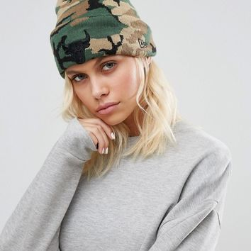 New Era Chicago Beanie in Camo at asos.com