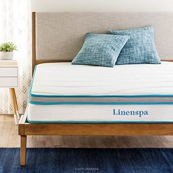 "LinenSpa 8"" Memory Foam and Innerspring Hybrid Mattress, Queen"