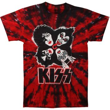 KISS Men's  Kiss Burst Tie Dye T-shirt Multi