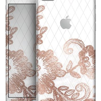 Rose Gold Lace Pattern 10 - Skin-kit for the iPhone 8 or 8 Plus