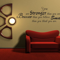Wall Decal Quote Sticker Vinyl Art Large You by walldecalquotes