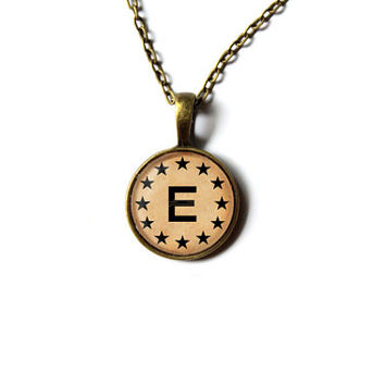 Fallout necklace Enclave pendant Apocalypse jewelry Antique style n258