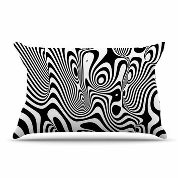 "Danny Ivan ""Trippy"" Black White Pillow Sham"