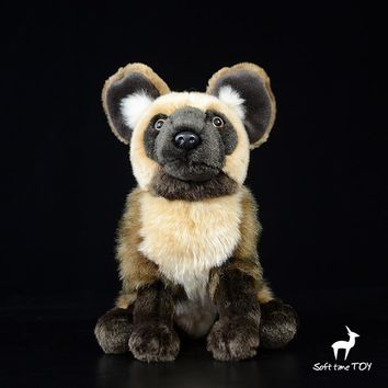 African Wild Dog Stuffed Animal Plush Toy 11""