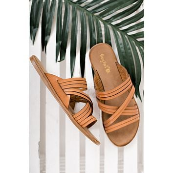 Walk Away Strappy Sandals (Tan)