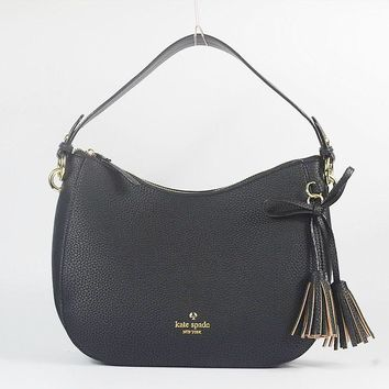 Kate Spade Jackson Street Mylie Hobo Shoulder Bag Leather Constellat Black G-MYJSY-BB-1