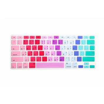 Rainbow Thai Keyboard Film protector for Macbook Air Pro Retina 13 15 17 Laptop Skin Covers for Mac book 13 15 Gel case