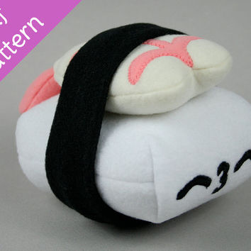 Shrimp Nigiri Sushi Plush .pdf Sewing Pattern