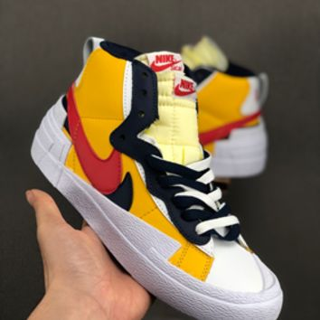 HCXX 19July 616 Nike Blazer Mid x Sacai BV0072 Causal Skateboard Shoes