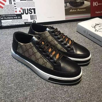 Gucci Men's Gg Guccissima Leather Fashion Sneakers Shoes