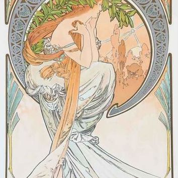 Alphonse Mucha The Arts - Poetry - Poster 11x17