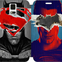 Batman v Superman: Dawn of Justice Wallet Case w/ STAND Flip Cover for Samsung Galaxy S5