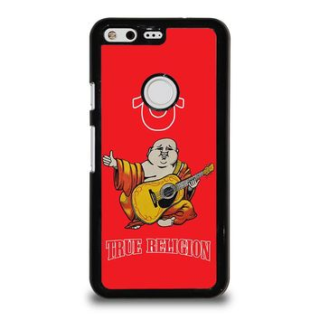RED BIG BUDDHA TRUE RELIGION Google Pixel Case Cover