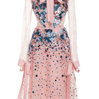 Lace Sleeve Short Dress | Moda Operandi