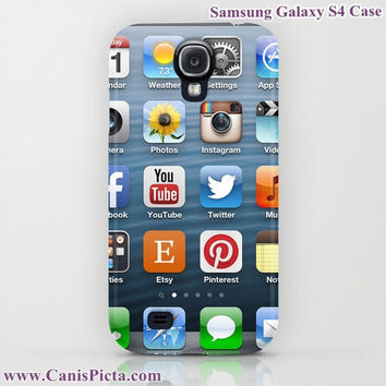 "Social Media ""iRonic"" iPhone (5, 4, 4S, 3, 3GS) OR Samsung Galaxy S4 Case - Twitter, Etsy, IMDB, YouTube, Instagram, Pinterest, FB"