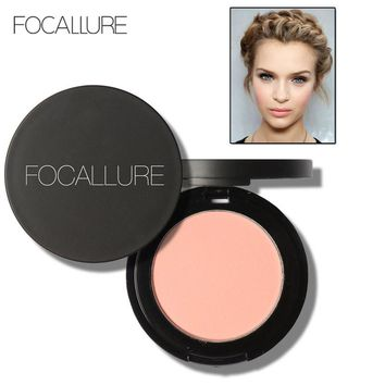FOCALLURE Brand Matte Blush Make Up Face Brightener Contour Powder Long Lasting Makeup Mineral Bronzer Blush Powder Coloretes