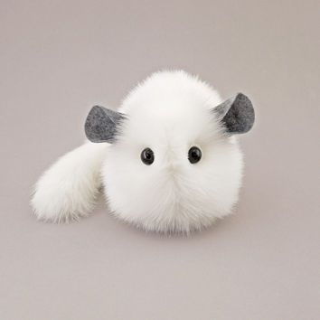 Bianca the White Chinchilla Stuffed Animal Plush Toy