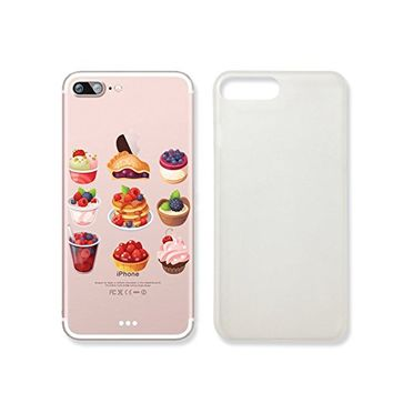 Cute Sweet Food Ice Cream Cake Slim Iphone 7 Case, Clear Iphone 7 ard Cover Case For Apple Iphone 7 -Emerishop (iphone 7)