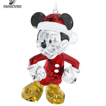 Swarovski Crystal Christmas Ornament MICKEY MOUSE #5004690 New
