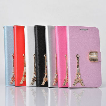 luxury iphone wallet case leather iphone 5 wallet case bling iphone 4 wallet case flip phone otterbox galaxy s3 s4 note2 case cover freegift
