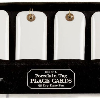 PORCELAIN TAG PLACE CARDS