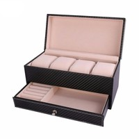 U7 4 Slot Watch Holder and Jewelry Organizer