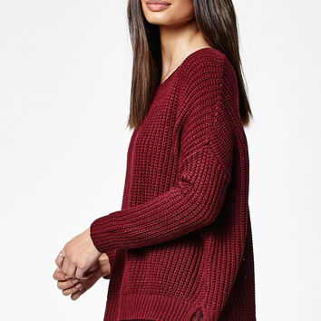 LA Hearts Crochet Trim Pullover Sweater at PacSun.com