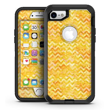 Yellow Basic Watercolor Chevron Pattern - iPhone 7 or 7 Plus OtterBox Defender Case Skin Decal Kit