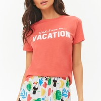 Vacation Tee & Shorts Pajama Set