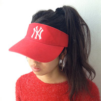 YANKEES New York red VISOR -sport, chic, unisex, cyber, cotton, american, team, deluxe, original, summer, hat-