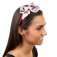 St. Louis Cardinals Womens Wrapped Headband with Bow