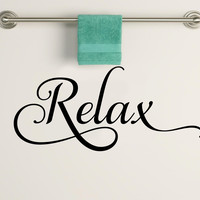 Relax Bathroom Decorative Vinyl Wall Decal Sticker Art