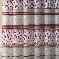 "Shower Curtain- Delancy Red Embossed Microfiber - 70""x 72"""