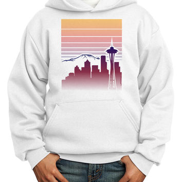Seattle Skyline Sunrise Youth Hoodie Pullover Sweatshirt