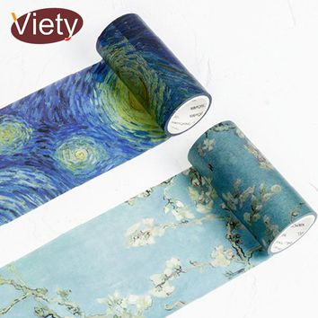 5cm*9m Beautiful Van gogh's paintings washi tape diy decoration for scrapbooking masking tape adhesive tape kawaii stationery