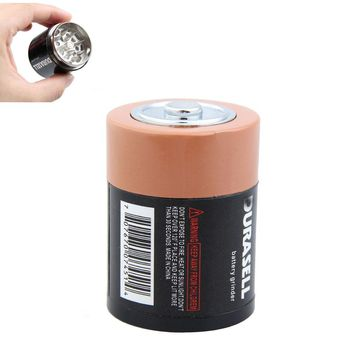 Battery Shaped Herbal Herb Tobacco Grinder Spice Pollen Crusher