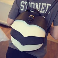 Fashion European and American Style Designer Small Backpack Women Multicolor Beatles Travel PU Leather Ladies Backpacks