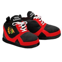 NHL Chicago Blackhawks 2015 Sneaker Slipper, Small, Black