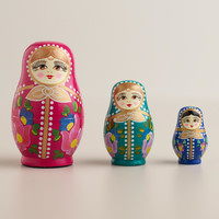 Russian Nesting Dolls, Set of 3 - World Market