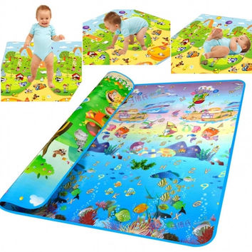 New Thickness Baby Crawling Mat Baby Crawling Pad/Game Mat Ocean Pattern