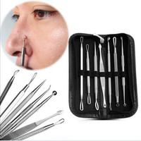 7Pcs /1 Set Durable Hot Sale Squeezer Beauty Tool Removal Needle Blackhead Pimple Blemish Remover Comedone Acne Extractor Skin Care Cleanser Needle Set Tool Kit [8833956876]