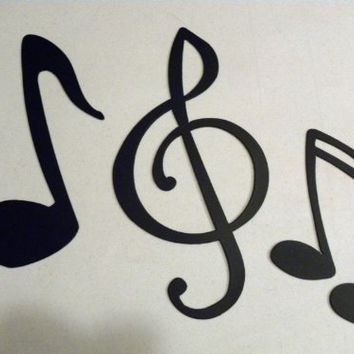 Treble Clef and Large Notes Music Decor Metal Wall Art