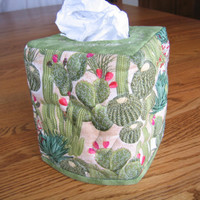 Quilted Tissue Cover in Cactus