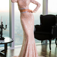 Two-Piece Lace Gown
